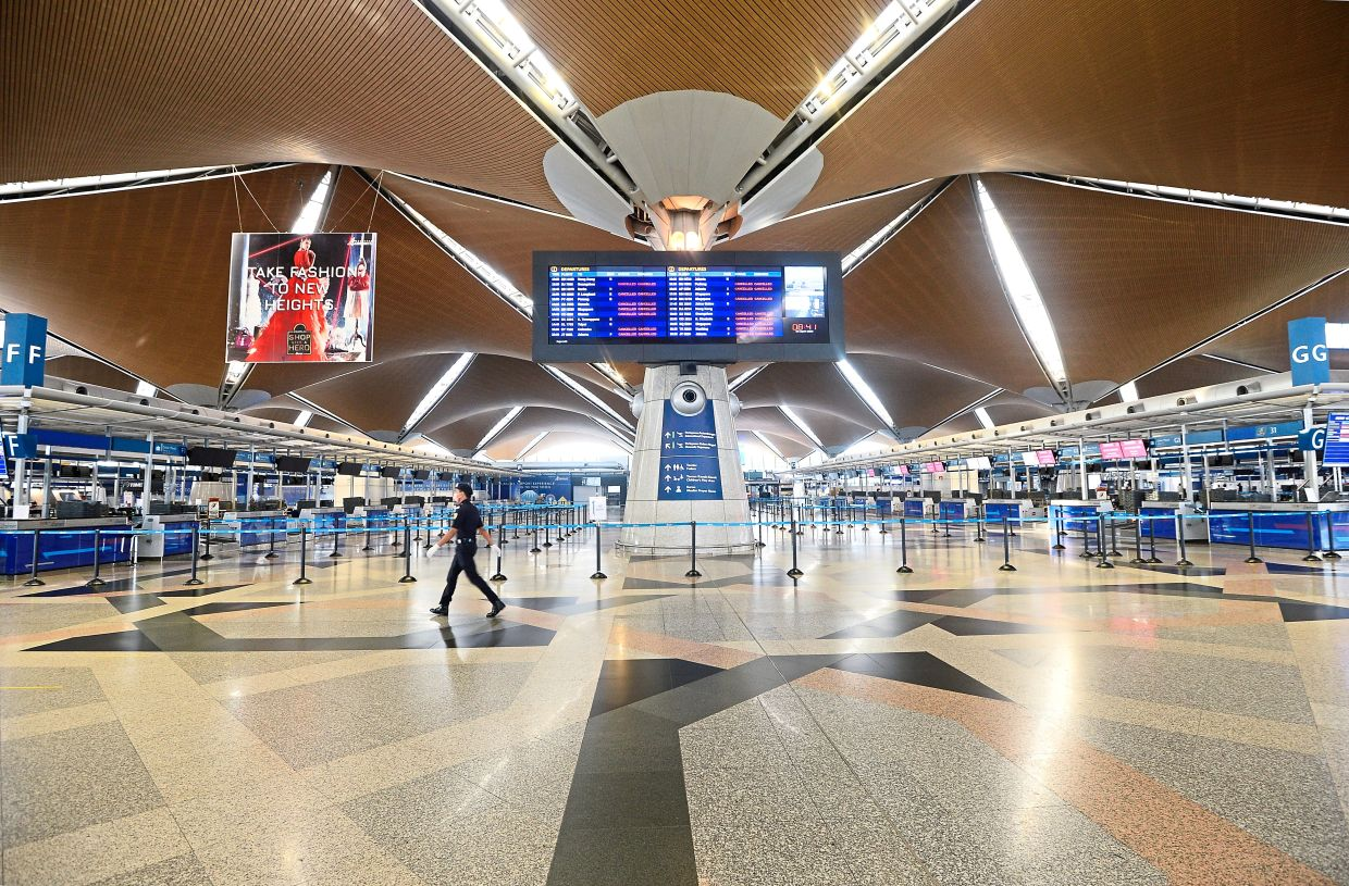 Pent-up demand: The KL International Airport, which is operated by Malaysia Airports Holdings Bhd. The firm has put in place a five-year strategic plan for survival, recovery and to capture the potential growth as the pandemic subsides.