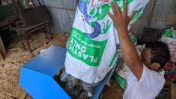 Cambodia: Plastic-to-rice initiative transforms waste into bricks