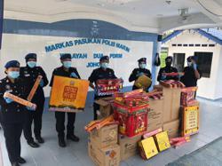 Marine cops seize RM80k worth of fireworks in raid