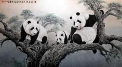 Panda painting exhibition opens in Cambodian capital