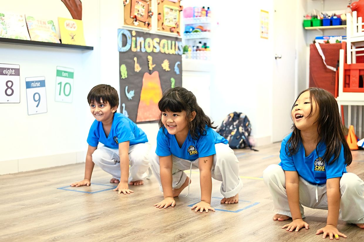 Students learning Choi Kwang Do in kindergarten before the pandemic. Photo: Aisya J Way