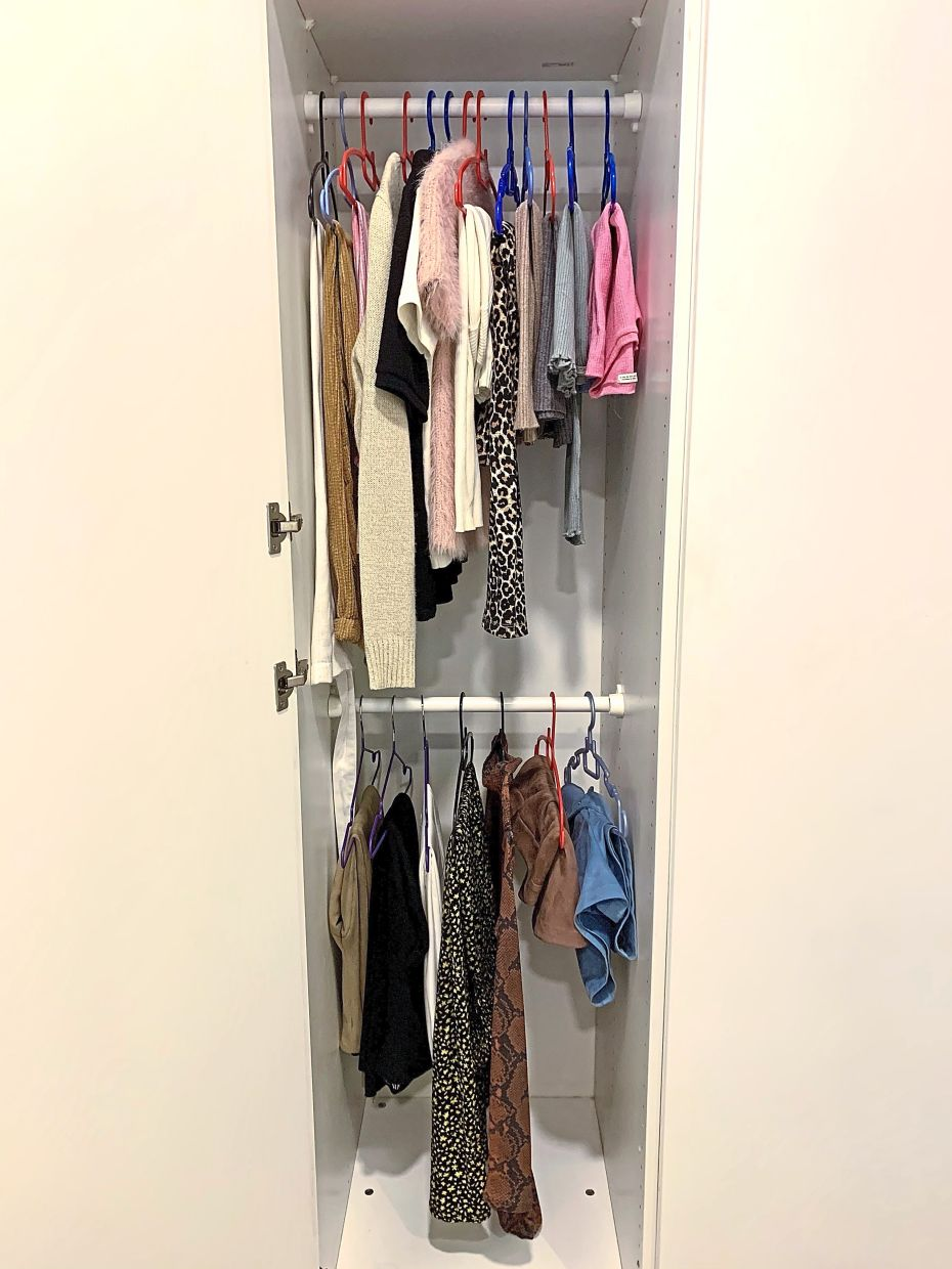 This is See's entire wardrobe during her No-Buy year in 2020, and she plans to do the same this year. Photos: Sherrene See