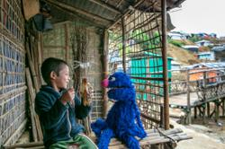 Sesame Street comes to one of the world's largest refugee camps