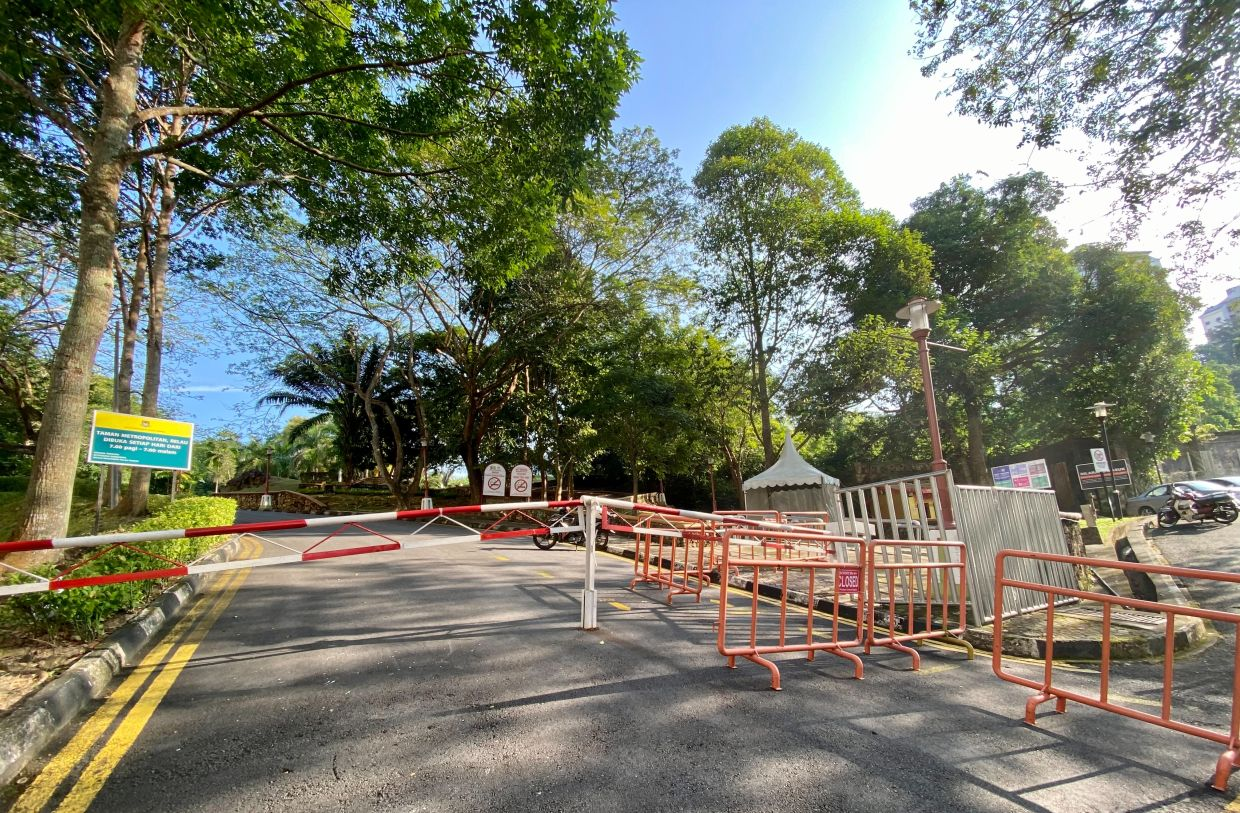 Metropolitan Park in Relau is among the recreational areas closed to the public