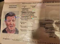Counterfeit gang uses fake Sylvester Stallone passport as ad