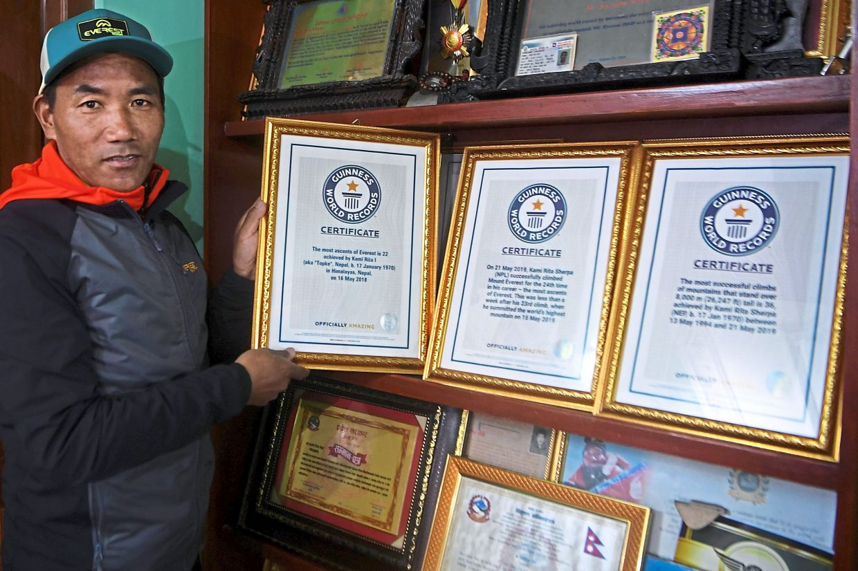 Kami Rita Sherpa has gone up Mount Everest 24 times. He can now add K2 to the list of mountains he has climbed.