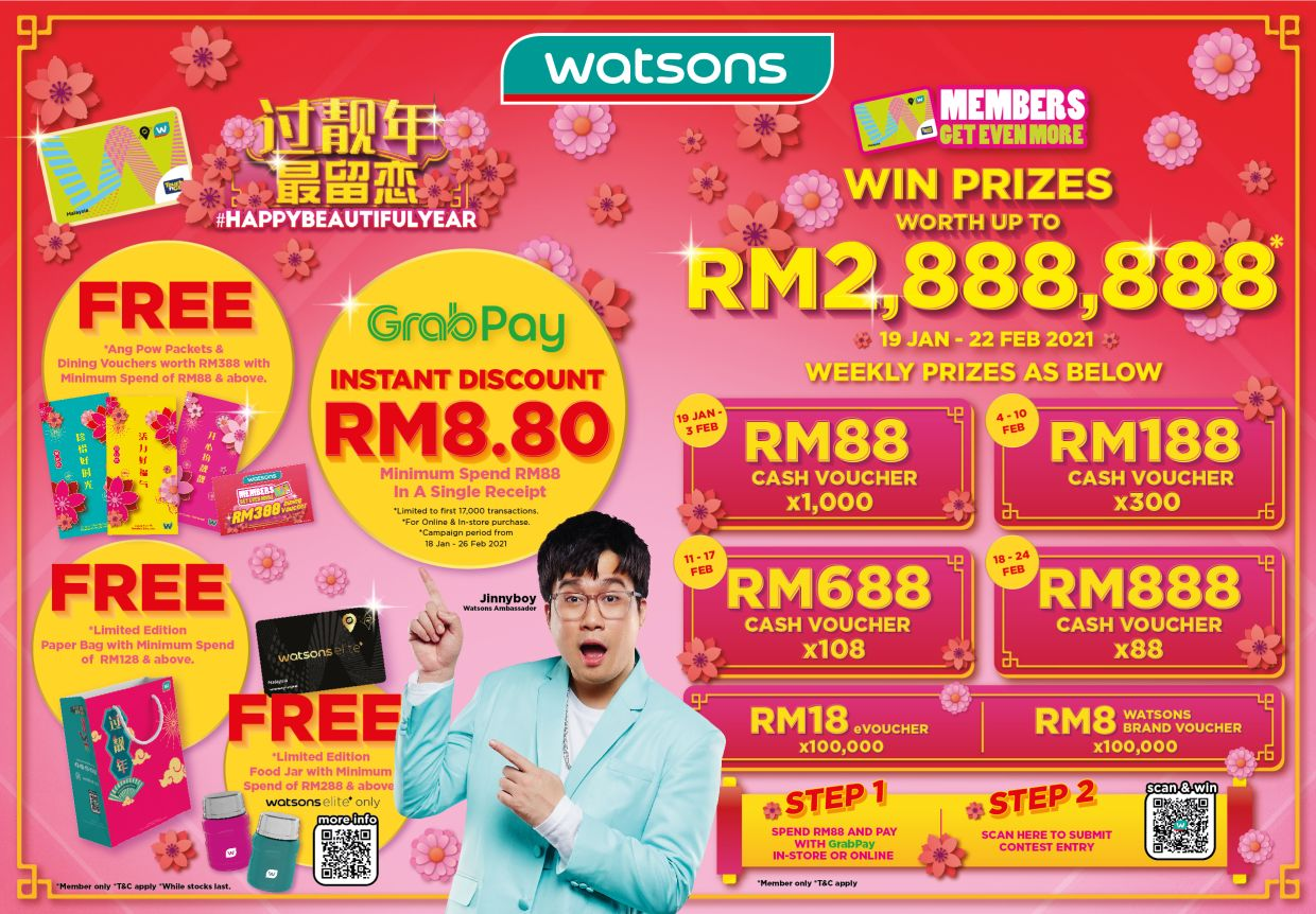 Watsons members are in for a bigger treat.