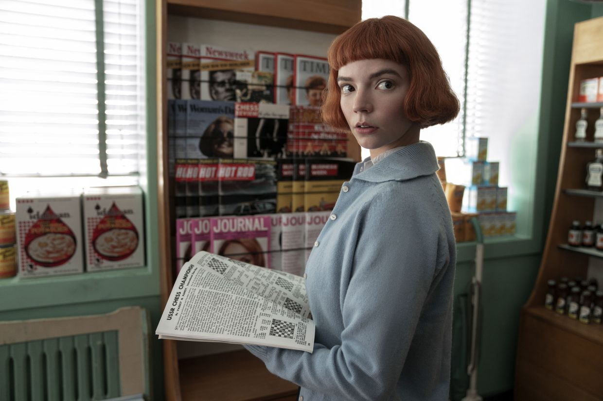 Anya Taylor-Joy was nominated for best actress in a limited series for her role in 'The Wueen's Gambit'. Photo: Netflix