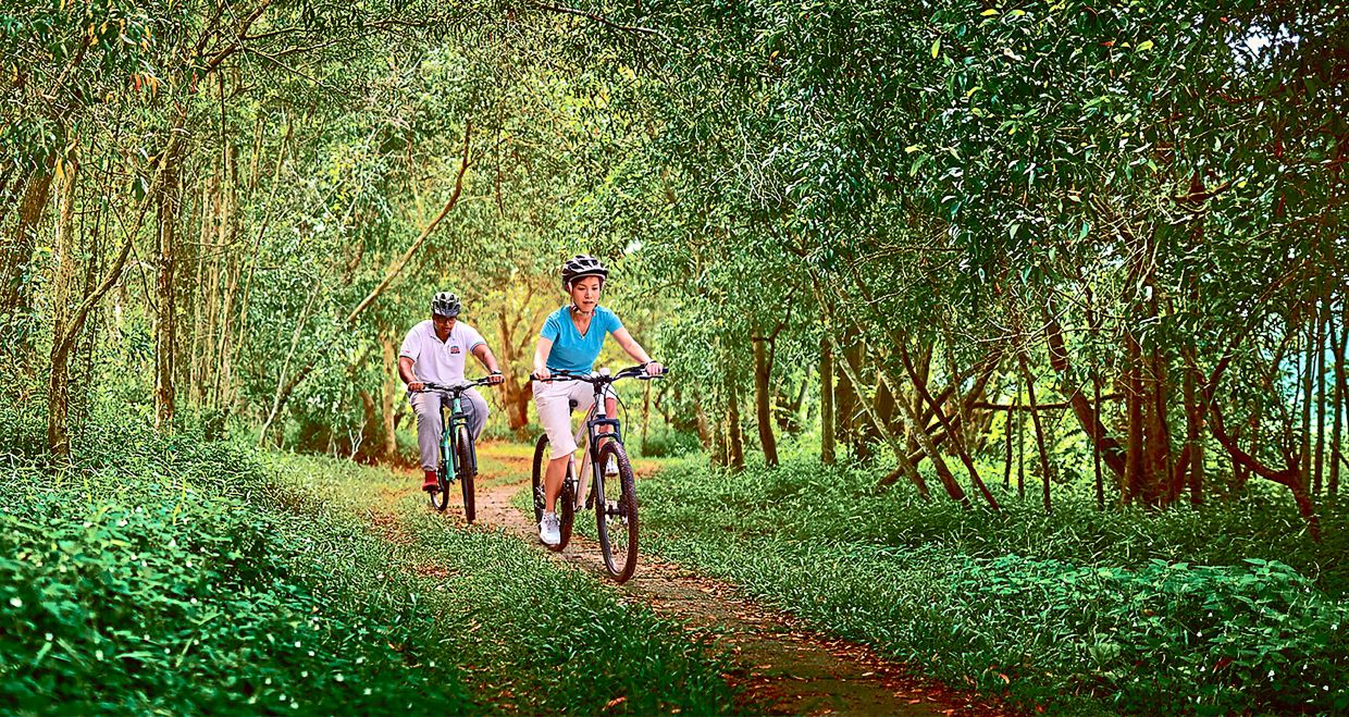 Residents can indulge in forest fitness activities such as jogging and cycling at the Forest Park.