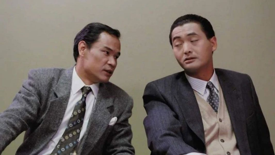 Lam Chung acting opposite Chow Yun Fat in 'Rich And Famous'.