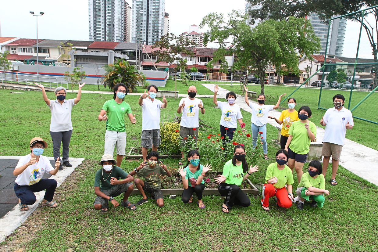 The youths have embarked on a composting project since last year, with guidance from their parents and senior citizens in the neighbourhood. Photo taken before MCO 2.0.