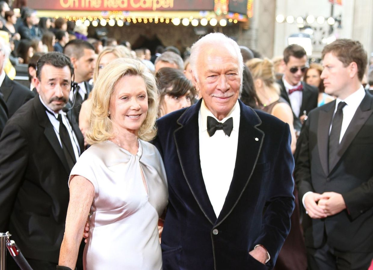 Christopher Plummer and wife Elaine Taylor arrive at the 84th Annual Academy Awards show at the Hollywood and Highland Center in Los Angeles, California, on Sunday, Feb 26, 2012. Photo: TNS