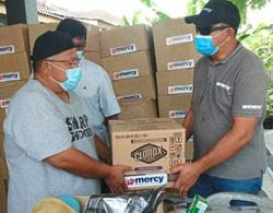 Hygiene kits handed out to flood victims