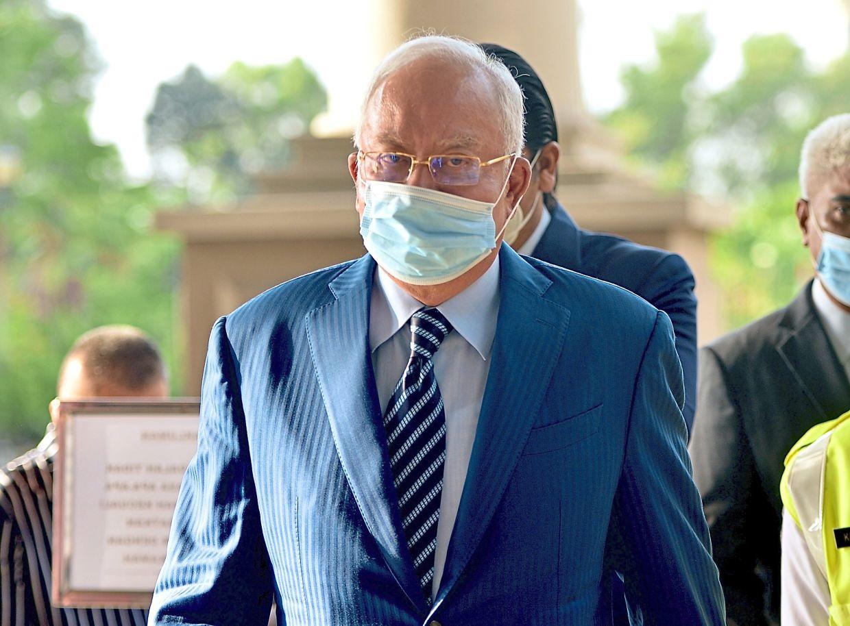 In the dock: Najib seen at the Jalan Duta court complex as his 1MDB trial resumes in Kuala Lumpur. — RAJA FAISAL HISHAN/The Star
