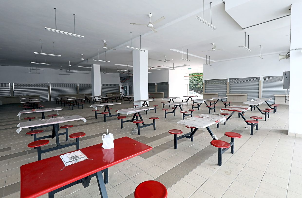 Some multi-storey carparks come with a food court.