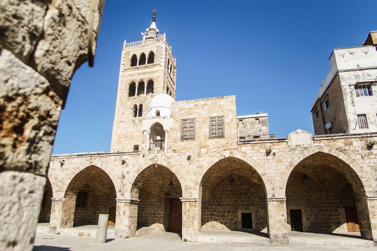 The minaret of the Mansuri Mosque is said to date back to a Crusader tower.