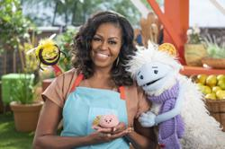 Michelle Obama to team up with puppets for a kids food show