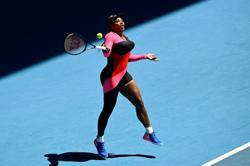 Serena's leotard a sheer delight as temperature rises