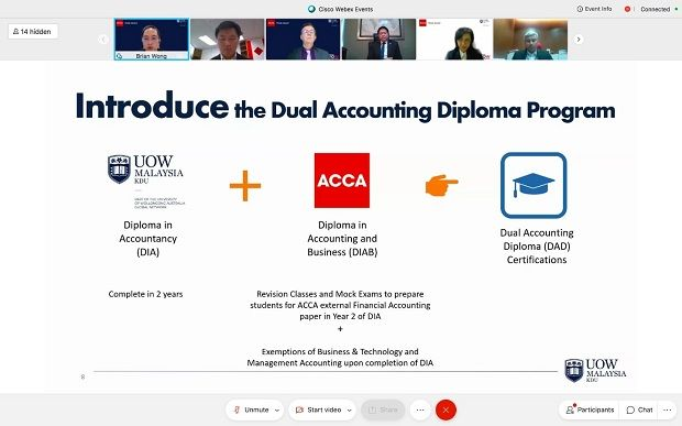 The launching of the world's first dual accounting diploma programme.