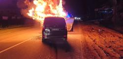 Driver has fiery brush with death