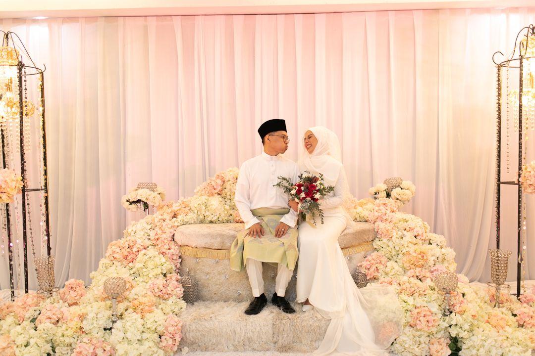 Ooi and Azalia at their Bersanding ceremony two years ago. Photo: Azalia Zaharuddin