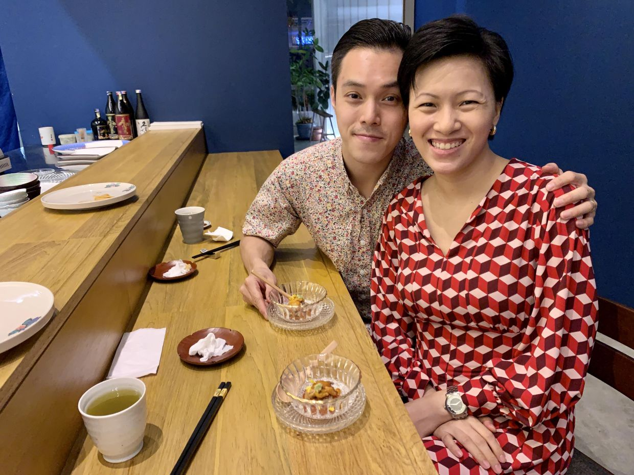 One thing that binds Goh and Lim together is their love for food. Photo: Calvin Goh