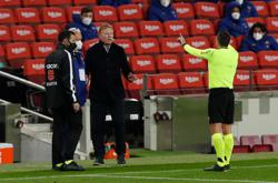 You need a magnifying glass to give Barca goal offside, says Koeman
