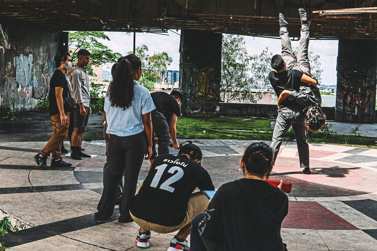 Behind the scenes of Ask Dance Company's dance film 'Hymns Of The Abandoned'. Photo: Aaron Chieng