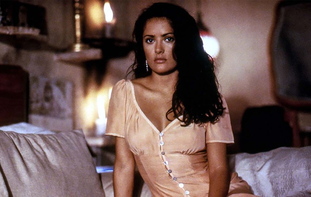 Why Salma Hayek cried while filming the sex scene in