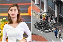 Driver's fiancee ran into fire