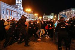 Barricades burn in Spanish streets amid protests over jailed rapper