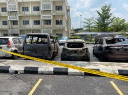 Seven vehicles destroyed in suspected arson in Pantai Dalam