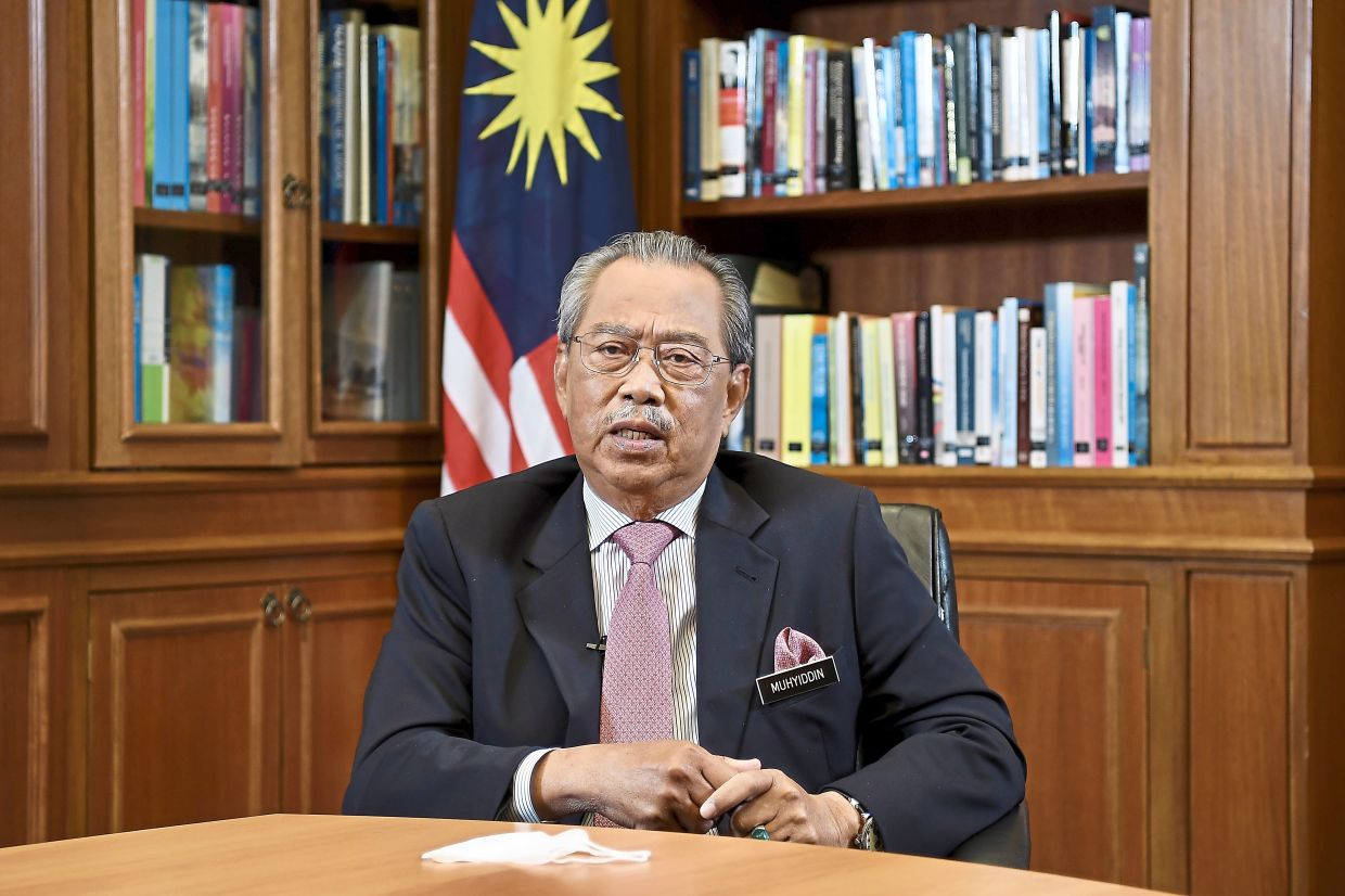 National goal: Muhyiddin said the government has targeted to control drugs by 2025, in line with the national drug policy.— Bernama