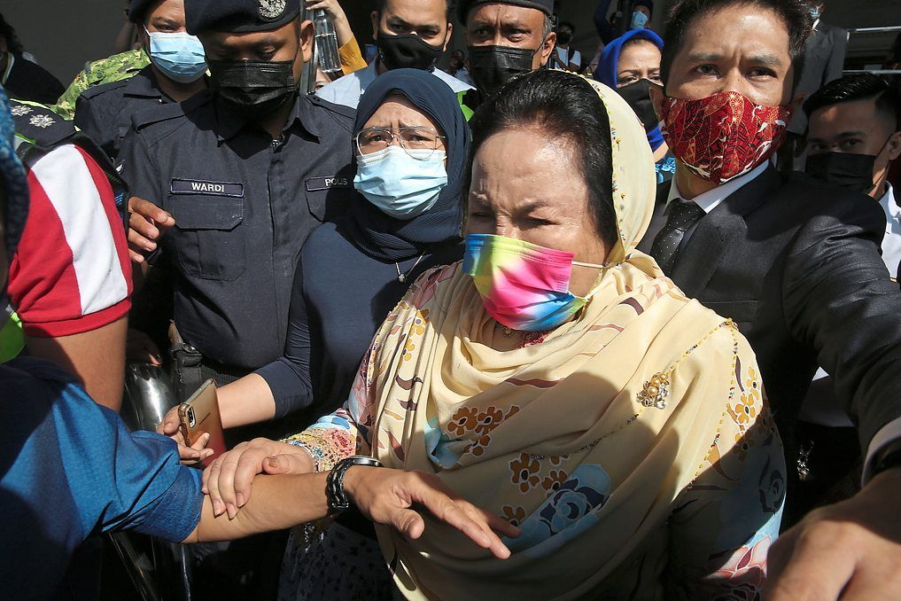 Next phase: Rosmah leaving the courthouse in Kuala Lumpur after she was ordered to enter her defence on three graft charges.