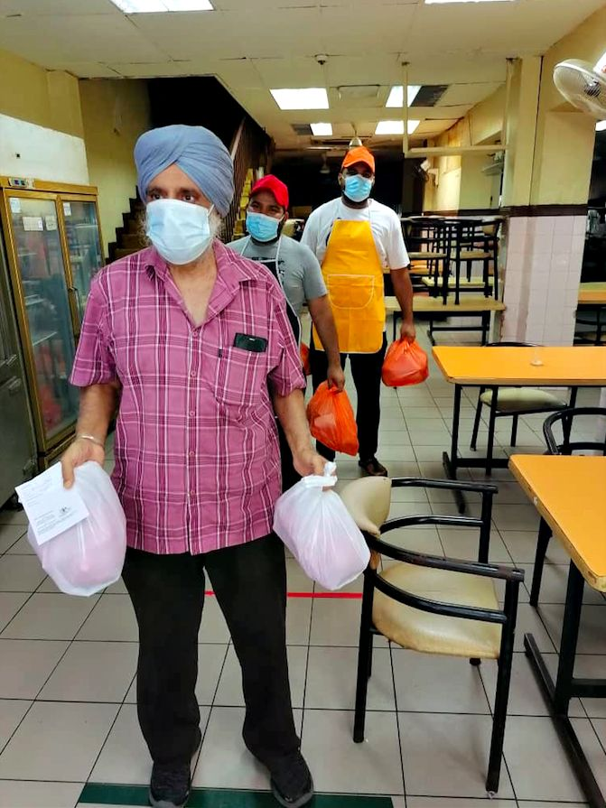 The food packets were prepared at Bhoopender Singh's restaurant in Kuala Lumpur.