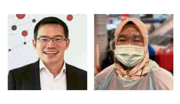 All for vaccine: Dr Ng (left) says that the vaccine is a 'game changer' while nurse Rosjr says she will feel safer after vaccination.