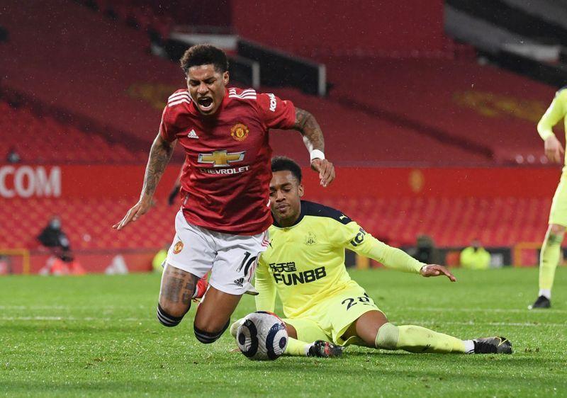 Image result for willock foul rashford penalty