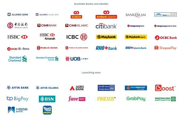 DuitNow QR is now available at the above banks and e-money providers with more signing on soon.