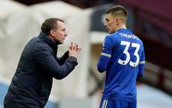 Rodgers hails attacking duo as Leicester down Villa