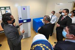 PM visits vaccine storage