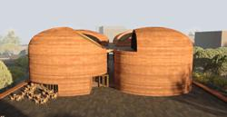 Library partially built with mud is award-winning architect's next project