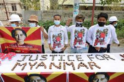 English first as Myanmar protesters appeal to the world