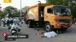 Elderly man dies after being pinned under garbage truck in Penang