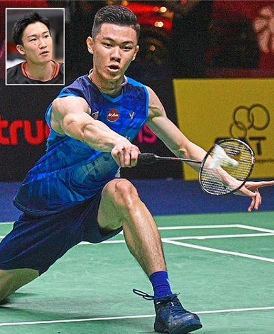 Mammoth hurdle: Lee Zii Jia will have twice world champion Kento Momota (inset) in his half of the draw at the All-England badminton tournament.