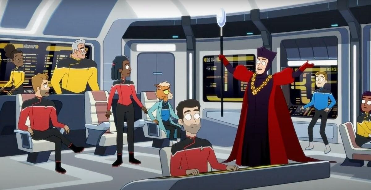 'It's great to be back on a starship! But I have to say, I'm a bit disappointed that the writers didn't throw in a historical QAnon reference in the script.'