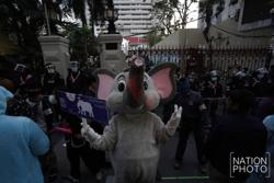 Thai 'Elephant Ticket' protest at police HQ ends peacefully