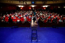 Madrid's COVID vaccinated care home residents relish freedom on theatre trip