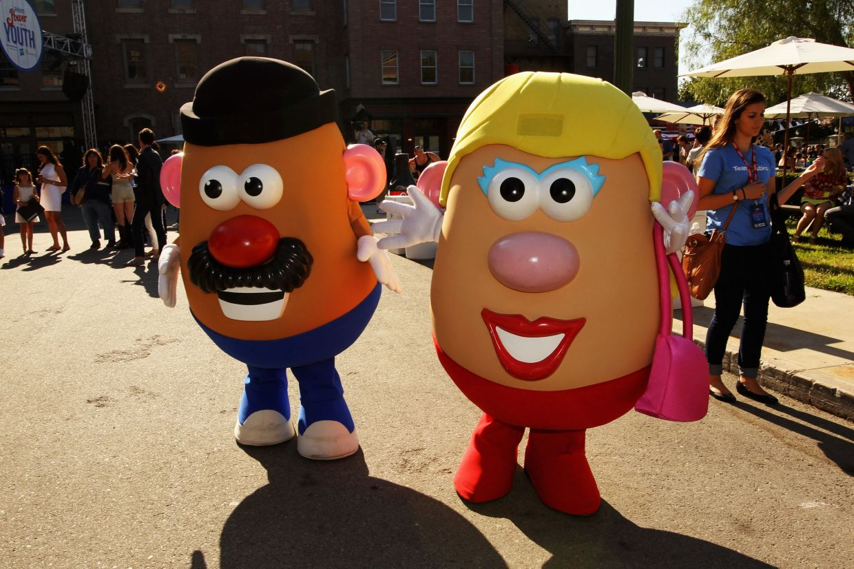 In this file photo taken on July 26, 2013, Mr and Mrs Potato Head attend Variety's Power of Youth presented by Hasbro, Inc. and generationOn at Universal Studios Backlot in Universal City, California. — AFP/Getty Images North America/Rich Polk