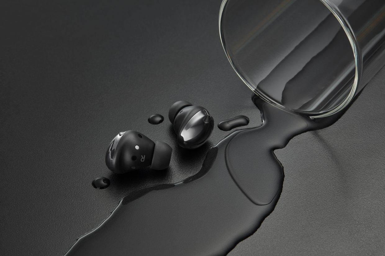 The Buds Pro bumps up the water resistance to IPX7, so water spills are a problem of the past.