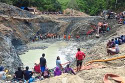 At least three dead in illegal gold mine collapse